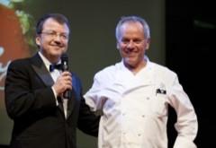 ÖWM-Chef Willi Klinger und Starkoch Wolfgang Puck
